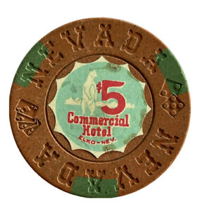COMMERCIAL  HOTEL $5 Casino Chip | Elko, Nevada