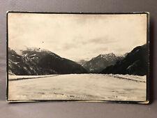 Brown Glacier AK Alaska Grohman Thane Old Real Photo Postcard RPPC