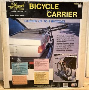 Hollywood Racks Vintage NOS 3 Bike Carrier Model F5 Pre-Assembled Car Van Wagon