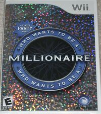 NEW Wii Who Wants To Be A Millionaire ?  Factory Sealed MIB Free Shipping !