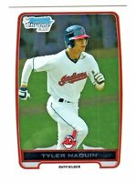 2012 Bowman Chrome Draft Prospects #BDPP9 TYLER NAQUIN RC Cleveland Indians