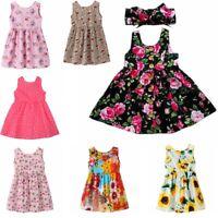 Flower Girls Kids Sleeveless Princess Dress Party Wedding Tutu Dresses Clothes