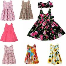 Flower Girls Kids Sleeveless Princess Dress Party Wedding Tutu Dresses Clothes