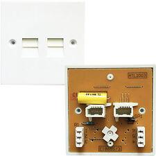 Paquete De 10-Dual bt/pabx extensión telefónica Socket-IDC secondary-wall Placa 5/3a