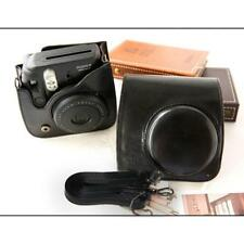 Black Leather Camera Case Bag Shoulder Strap for Fuji Fujifilm Instax Mini8