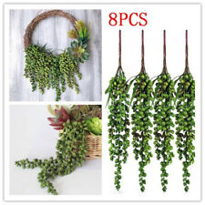 8pcs Artificial Hanging Plants Fake Succulents String of Pearls for Home Decor