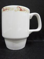 "Australian Fine China Mug / Cup - maroon & gold leaves vgc (3 3/4"" x 2 7/8"")"