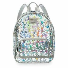 Disney Mickey Minnie Mouse Backpack Holographic & Mickey Sequin Charm *2 Piece*