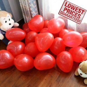 25 pk Red & White Heart Shape Balloons Valentines Special Decorations baloons UK