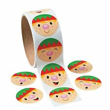 Christmas Holiday Santa'S Elf Stickers - 1 Roll (100 Ct.)