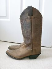 Justin Womens Brown Distressed Oiled Leather Western Boots~6 B