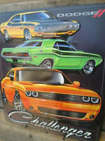 NEW Dodge Challenger 3D Metal Display SHAKER YELLOW TA Petty Mopar RT SE 70 71