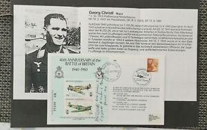 RAF-BATTLE OF BRITAIN COVER SIGNED BY LUFTWAFFE MAJOR GEORG CHRISTL.