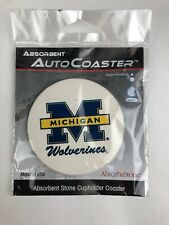 Michigan Wolverines Absorbent Stone Auto Car Truck Vehicle Coasters Absorbastone