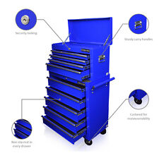 153  US PRO TOOLS BLUE AFFORDABLE TOOL CHEST ROLLCAB STEEL BOX ROLLER CABINET