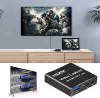 USB 2.0 4K HDMI Game Video Capture Card Loop-Out Live Streaming Gaming Recorder