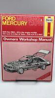 Haynes Ford Mustang & Mercury Capri Owners Workshop Manual BOOK