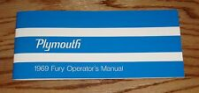 1969 Plymouth Fury Owners Operators Manual 69