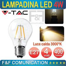 LAMPADINA LED FILAMENTO VETRO SFERA PALLA V TAC LUCE CALDA 3000 K E27