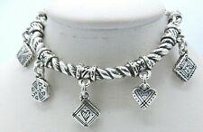 "Brighton Mini Charm Bracelet Half Cuff  6.5 - 7.5"" B119"
