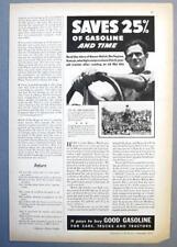 Original 1937 Ethyl Gas Ad Photo Endorsed Homer Hatch of Burlington, Kansas