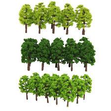 60Pcs 1:150 N Scale Plastic Model Trees Railroad Landscape Scenery Parts DIY