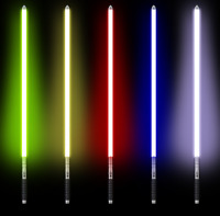 Star Wars Lightsaber Metal Sword Cosplay Prop Laser Darth Vader Yoda Clone Lamp