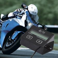 Spark Plugs Engine Digital Tach Hour Meter Gauge Tachometer Motorcycle Bike UG