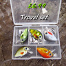 5 X Realscale mini cranks savage pike perch trout travel box lures gift set gear