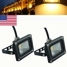 2X 10W LED Flood Light Warm White Outdoor Security Work Light Spot Lamp 110V