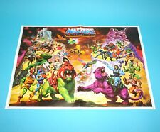 MOTU HE-MAN MASTERS OF THE UNIVERSE CATALOG FOLDOUT POSTER DUTCH 1984 MATTEL