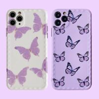 Fashion Purple Butterfly Cute Phone Case Cover For iPhone11Pro 7 8Plus XR XS Max