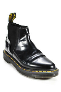 Dr. Martens Womens Bianca Patent Lamper Point Toe Ankle Boots Black Size 6