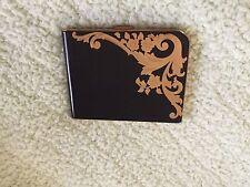Vintage 1950's Elgin American Enamel Cigarette Case Art Nouveau