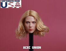 1/6 Scarlett Johansson Black Widow 7.0 Head Sculpt B For Hot Toys Phicen U.S.A.