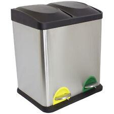 30-39 L Müll- & Abfalleimer aus Edelstahl mit Tretpedal