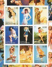 Desnuda Sexy Dama Arte Erótico frágil 2000 Sheetlet sello Imperforado estampillada sin montar o nunca montada