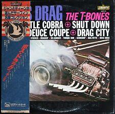 BOSS DRAG THE T-BONES Pochette DRAGSTER CAR RARE LP LIBERTY JAPAN MINT + OBI