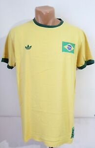 CBF BRAZIL 1970 FOOTBALL SHIRT SOCCER JERSEY CAMISETA ADIDAS ORIGINALS MEN'S L