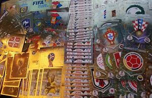 PANINI FIFA WORLD CUP STICKERS RUSSIA 2018 FOIL, EMBLEMS, LEGENDS, SHINY CARDS.