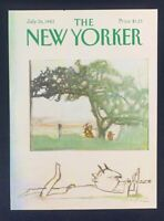 COVER ONLY ~ The New Yorker Magazine, July 26, 1982 ~ Andre Francois