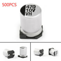 500x 10V 470uF 8*10.5mm +-20% SMD Condensatori elettrolitici Chip E-Cap IT