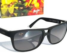 NEW* Maui Jim Waterways Black Aviator w POLARIZED Grey Lens Sunglass GS267-02MR