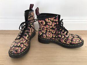 Dr. Martens Leopard animal Print 13661 Boots pink yellow black airwair EU 37