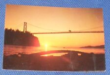 LIONS GATE BRIDGE, SUNSET, VANCOUVER, B.C. CANADA