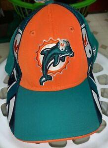 Nice Miami Dolphins Baseball Cap Hat Green Teal Orange Reebok OSFA Football