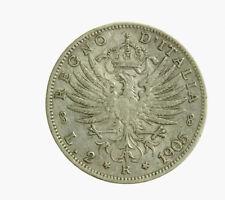 s763_1) Vittorio Emanuele III (1900-1943) lire 2 Aquila Sabauda 1905