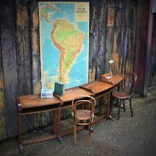 Antique Rare Oak Circular Council Chamber Desks Table
