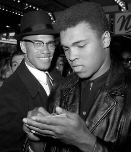 Muhammad Ali and Malcom X vintage print on archival paper