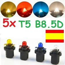 5x BOMBILLA HALOGENA T5 B8.5D 1.2W COCHE MOTO TABLERO RELOJ CUADRO CON CASQUILLO